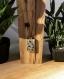 Sautoir en bois nuances de vert