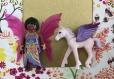 Cadre playmobil féé et sa licorne