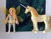Cadre blanc playmobil fee julie et sa licorne