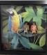 Cadre playmobil noir les cromagnons en forêt tropicale