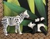 Cadre playmobil zèbre et koala savane motif au choix