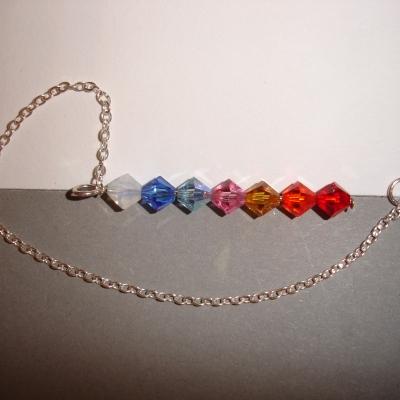Pendule 7 chakras en cristal de swarovski