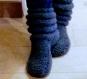 Chaussons adulte tricoté en laine (35 - 42)