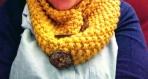 Tour de cou, snood, tricoté en laine