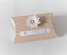 Boite à dragées avec fleur en relief - boite dragée thème bohème, kraft et blanche