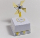 Boite à dragées avec moulin à vent personnalisables, graphisme scandinave, pour communion, mariage, anniversaire  ...