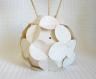Vase décoratif en origami et ses fleurs moulins à vent thème: nature - moulin à vent champêtre