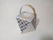 Boite à dragées forme diamant origami - boite à dragées personnalisable, baptême, communion, mariage. boite chocolat -