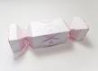 Boite à dragées forme bonbon, thème: nuage licorne, rose poudré, rose et blanc, boite dragées baptême, communion, mariage personnalisable