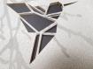 Carte de vœux 2019 dans sa pochette, avec découpes oiseau en origami et matières naturelles. carte de vœux graphique et originale.