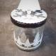 Boites à chocolats en verre pour noël et les fêtes. bonbonnière originale avec sapin en relief et flocon, blanc et argenté. lot de 6