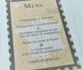 Menu kraft à poser - menu mariage thème voyage personnalisable