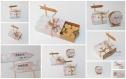 Boite à dragées forme boite d'allumettes -thème voyage