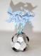 Commande réservée magalie: 6 vases décoratif en origami et ses moulins à vent personnalisables + 30 ronds de serviettes assortis