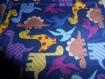 Lot de 4 lingettes lavables  en coton,  motif dinosaures