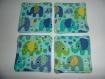 Lot de 4 lingettes lavables en coton, motif éléphants