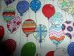 Lot de 6 lingettes lavable en coton , motif ballons