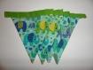 Guirlande de fanions en tissu,  motif éléphants de 86 cm
