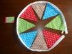 Guirlande de 8 fanions en tissu motif étoiles de 132 cm