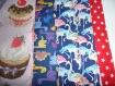 Bavoir adulte femme motif dinosaures, en coton , serviette de table