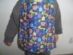 Bavoir enfant élastiquée motif dinosaure en coton, serviette de table
