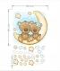 Autocollant de couleur ours en peluche bleu (3549f)