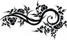 Pochoir pour peindre ornement fleur (3028x)
