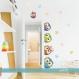 Autocollant de couleur hiboux autour de la porte (3592f)
