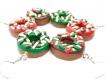 Boucles d'oreilles donuts de noël chocolat