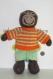 Aristide, doudou singe en tricot