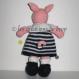 Liselotte, doudou cochon en tricot