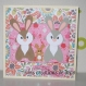 Carte naissance lapin - félicitations