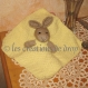 Poussin doudou carré lapin