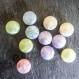 Lot de 11 grosses perles palets irisées couleurs pastel - 10 x 25 mm