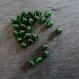50 perles en verre ovales couleurs vert bouteille - 6 x 8 mm