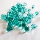 50 très belles perles gouttes en verre bleu turquoise - 8 x 4 mm