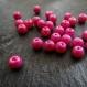 100 perles de verre nacrées rose vif - 4 mm