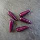 5 perles magiques goutte violet / aubergine - 28 mm
