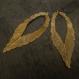 4 grandes breloques feuilles bronze - 10 cm de long