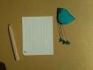 Magnet oiseau turquoise