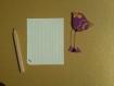 Magnet oiseau violet