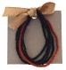 Set de bracelets en perle rouge/ noir