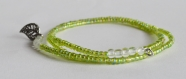 Bracelet de perle, vert clair