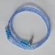 Bracelet de perle bleu transparent