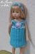 Tuto h / fiche explications crochet pour réaliser une robe en 2 versions & un chapeau ou un bandeau assorti pour poupée little darling 33 cm