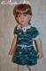 Tuto m / fiche explications tricot pour réaliser une robe col dentelle pour poupées de 46 & 50 cm