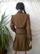 Unique. elegant brown coat with brown lace