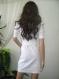 Elegant white tunic or mini dress made of cotton with elastane