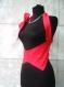 Red-corset bodice