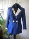 Elegant ladies blue coat made of fine wool textile
